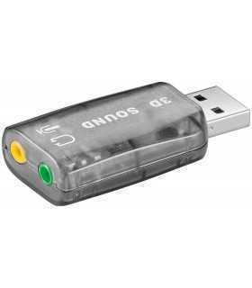 Placa sunet USB la 2 x 3.5mm stereo Goobay
