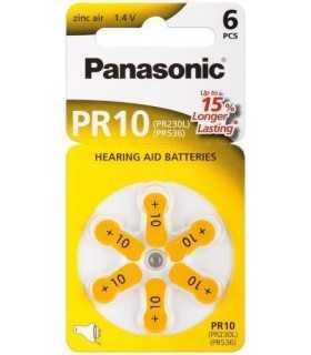Baterii aparate auditive zinc-air V10 HA10 PR10 PR70 Panasonic 6buc