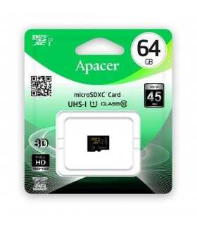 Card microSDXC UHS-I 64GB Clasa 10 cu adaptor SD Apacer