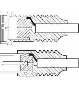 Cablu conexiune antena/ Satelit 1.5m F tata - Coaxial tata alb Goobay