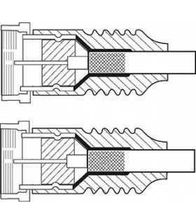 Cablu de antena ecranat F tata-tata 7.5m Goobay