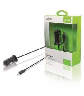Incarcator auto Micro USB 2.4A negru Sweex