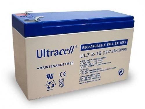 Acumulator plumb acid 12V 7.2AH cu borne late Ultracell UL7.2-12