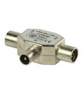 Spliter coaxial tata - 2x coaxial mama metalic Valueline