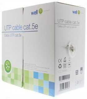 Cablu UTP CAT5e 8 fire din cupru 0.49mm Well