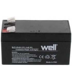 Acumulator plumb acid 12V 1.3A Well 97x43x52mm