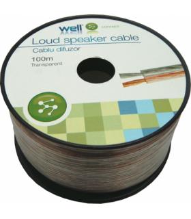 Cablu difuzor transparent 2x0.35mm Well