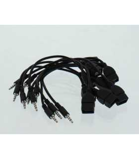 Cablu adaptor USB mama - jack 3.5mm 4 pini 0.2m