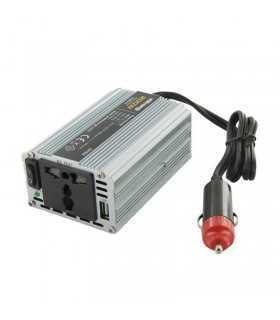 Invertor 12V-220V 150W + USB 0.5A auto Whitenergy