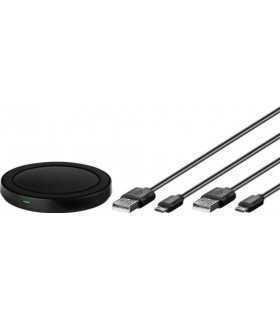 Incarcator wireless plat (S) pentru smartphone/dispozitiv compatibil Qi negru Goobay