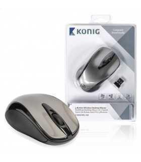 Mouse desktop wireless cu 3 butoane Konig