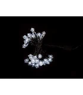 Ghirlanda luminoasa decorativa forma de diamant 40 LED-uri albe lumina rece culoare cablu verde WELL