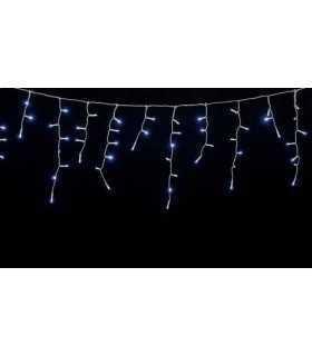 Instalatie luminoasa cu turturi 100 LED-uri albe lumina rece cu jocuri de lumini cablu transparent WELL