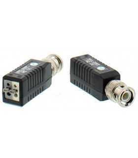 Video balun HD prin UTP/FTP BNC - 2 pini terminali cu clip pentru cablu Well
