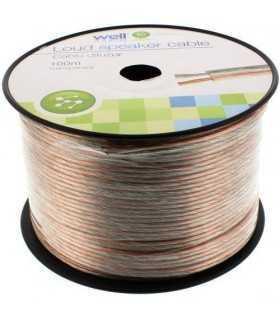 Cablu difuzor transparent 2x2mm Well