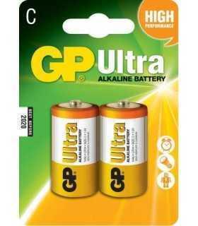 Baterii alcaline R14 C 2buc/blister Ultra GP