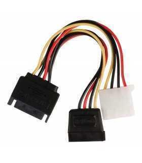 Cablu de alimentare intern SATA 15 pini tata - Molex mama +SATA 15 pini mama 0.15m multicolor Valueline