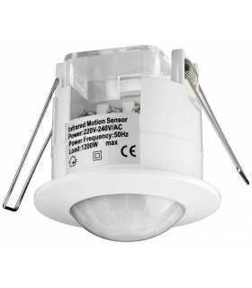 Senzor de miscare alb cu infrarosu pentru interior Goobay