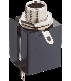 Conector alimentare 6.3mm sasiu stereo Lumberg