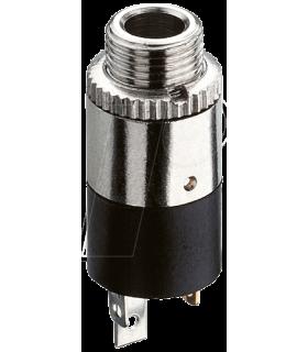 Conector jack stereo mama 3.5mm de sasiu cu piulita Lumberg