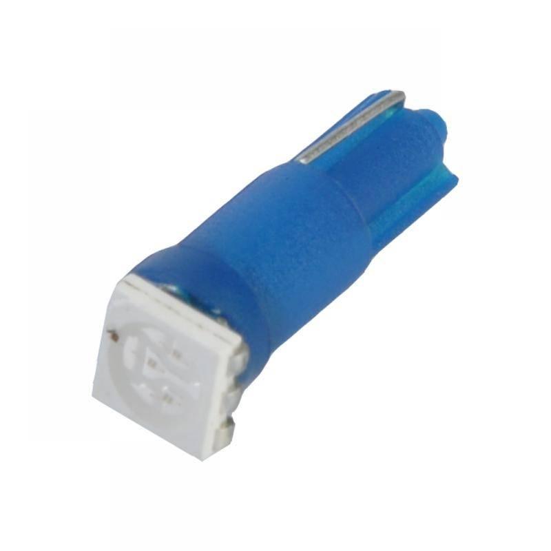 Bec LED auto 12V T5-WG 1SMD 5050 3 chips albastru