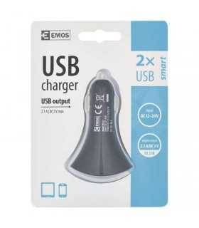 Alimentator incarcator USB 12V/24V la 2x USB 2.1A negru V0212 EMOS