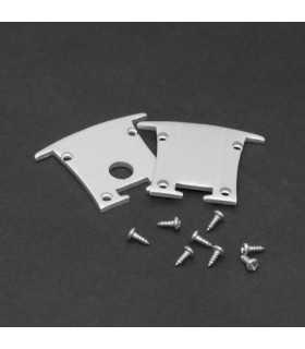 Element de inchidere pentru profiluri LED din aluminiu 2buc PHENOM
