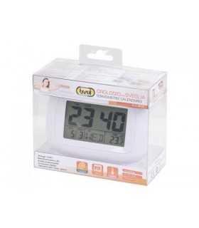 Ceas de masa cu alarma termometru alb Trevi