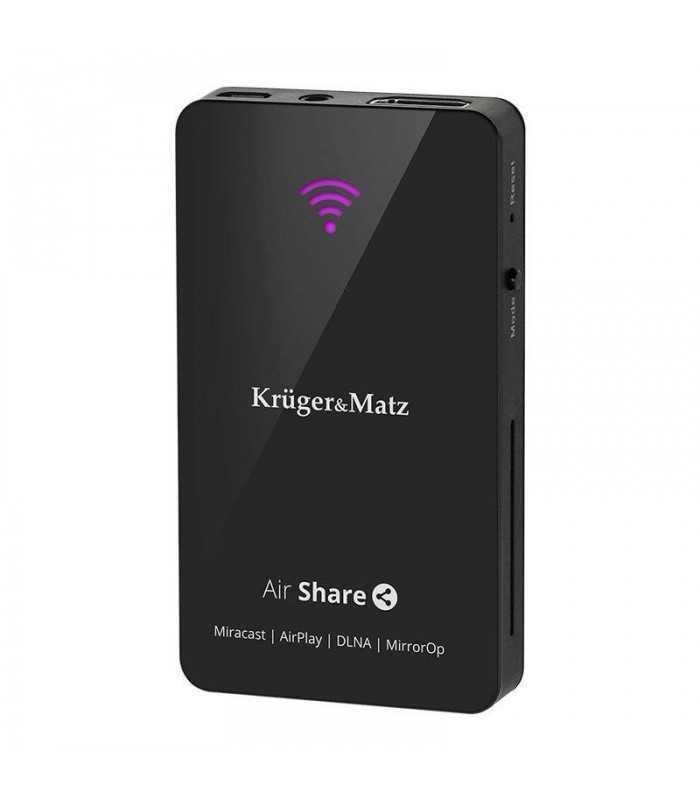 AirShare DLNA Miracast Airplay MirrorOp Kruger&Matz
