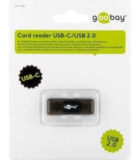 Cititor de carduri USB C USB 2.0 Micro SD Micro SDHC Micro SDXC Goobay