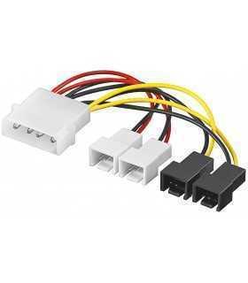 Cablu alimentare PC 4 pini - 2x 2 pini 12V + 2x 2 pini 5V 15cm Goobay