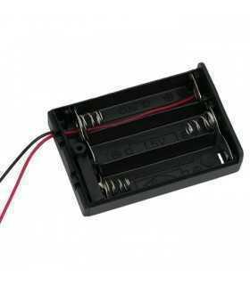 Suport baterii 3x AA cu capac intrerupator si fire