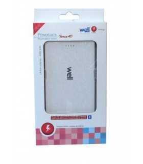 Acumulator USB portabil powerbank 4000mAh 2.1A alb Well