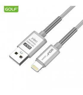 Cablu Thunder iPhone Golf 40i argintiu 1m 2.4A Fast charging