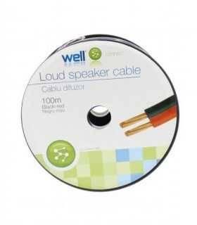Cablu difuzor rosu-negru OFC cupru 2x1mm Well