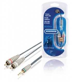 Cablu Audio Stereo Jack 3.5mm tata - 2x RCA tata 1m Bandridge