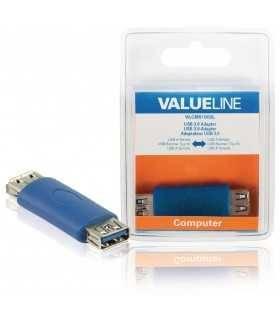 Adaptor USB A 3.0 mama - USB A mama albastru Valueline