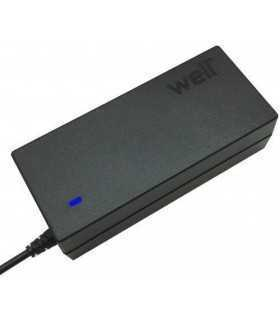 Alimentator pentru laptop universal 65W / 8 Tips / AC 100-240V si selectare automata a tensiunii Well