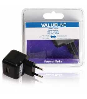 Incarcator 2.1A USB A mama - AC alimentator retea negru Valueline