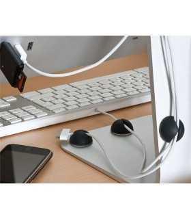 Ghidaj cablu pentru birou 5buc/set negru Goobay