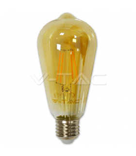 Bec E27 cu filament LED 4W 2200K ST64 model EDISON V-TAC