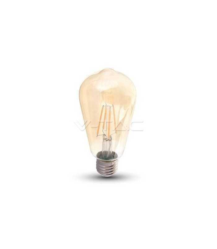 Bec E27 cu filament LED 8W 2200K ST64 model EDISON V-TAC