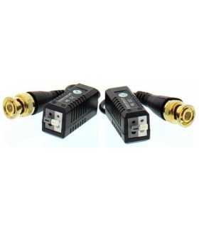 Video balun HD cu clip pentru cablu UTP/FTP Well