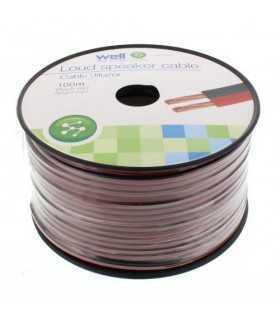 Cablu difuzor rosu/negru 2x0.75mm CCA Well