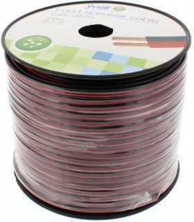 Cablu difuzor rosu/negru 2x1.50mm Well