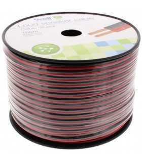 Cablu difuzor rosu/negru 2x2.50mm Well