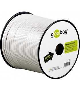 Cablu difuzor alb 2x0.75mm CCA Goobay