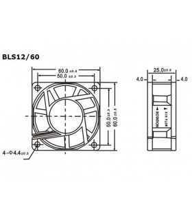 Ventilator 12V 60x60x25mm Velleman