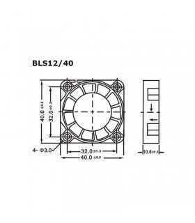 Ventilator 12V 40x40x10mm Velleman