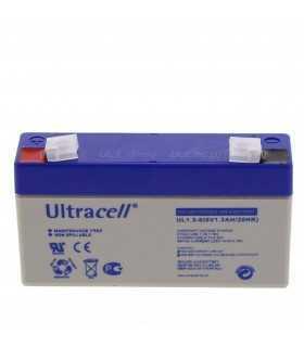 Acumulator plumb acid 6V 1.3A Ultracell 97x24x51.5mm